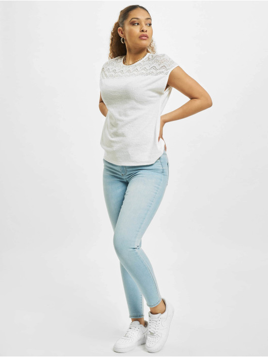 Only Tops onlElvira Mix Lace bialy
