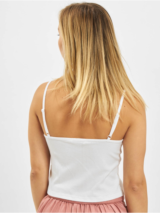 Only Tops onlLarra Cropped Singlet JRS bialy