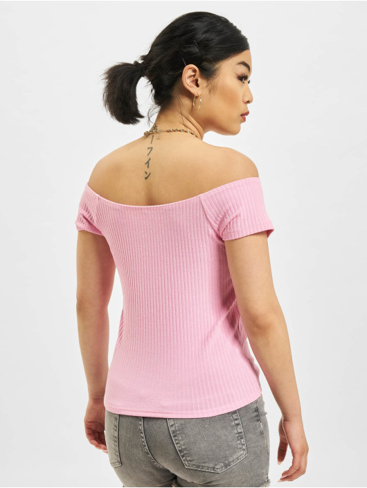 Only Tops Nella Off-Shoulder pink