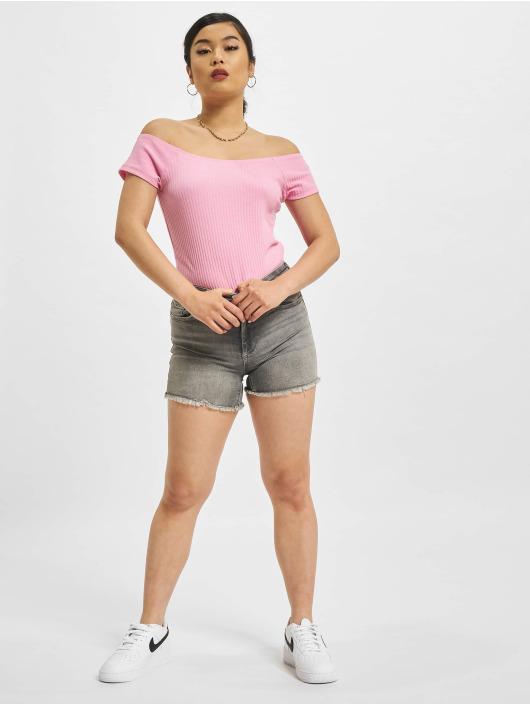 Only Topy/Tielka Nella Off-Shoulder pink