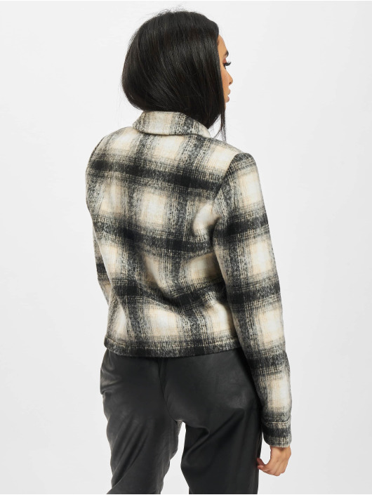 Only Transitional Jackets Onllou Short Check beige