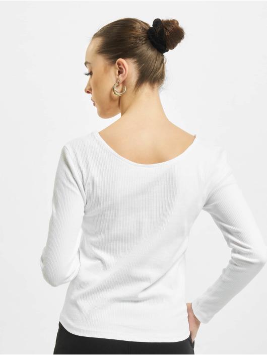 Only Tričká dlhý rukáv onlSimple Life Button biela