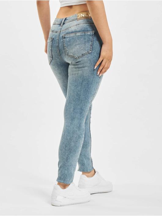 Only Tynne bukser onlWauw Life Mid Skinny blå