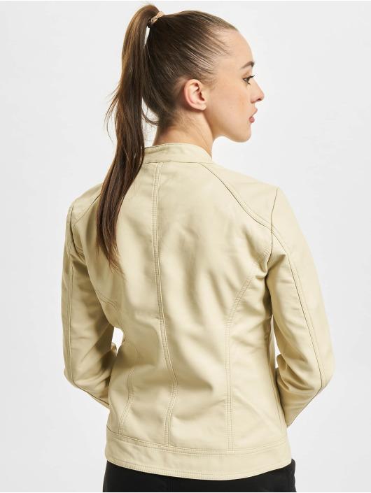 Only Veste & Blouson en cuir onlBandit Faux Noos Leather Biker beige
