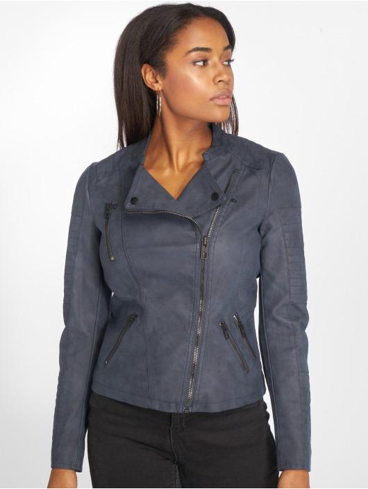 Only Veste & Blouson en cuir onlAva Faux Leather bleu