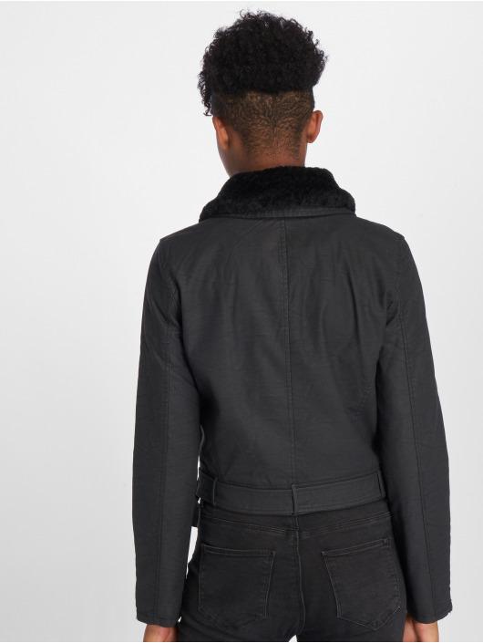 Only Veste & Blouson en cuir onlCarol Fur Faux noir