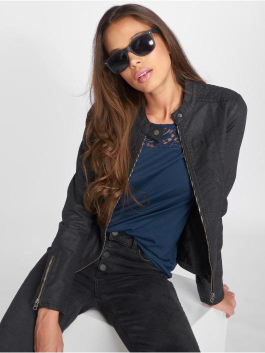 Only Veste & Blouson en cuir onlSaga noir