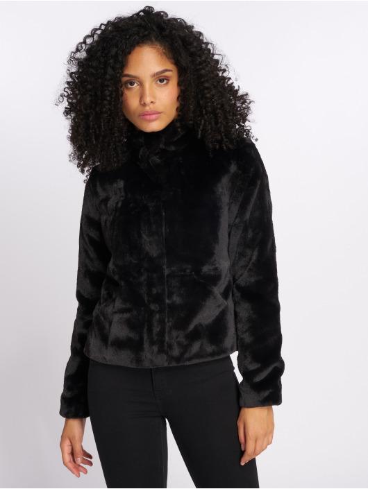 Only Veste mi-saison légère onlVida Faux Fur noir