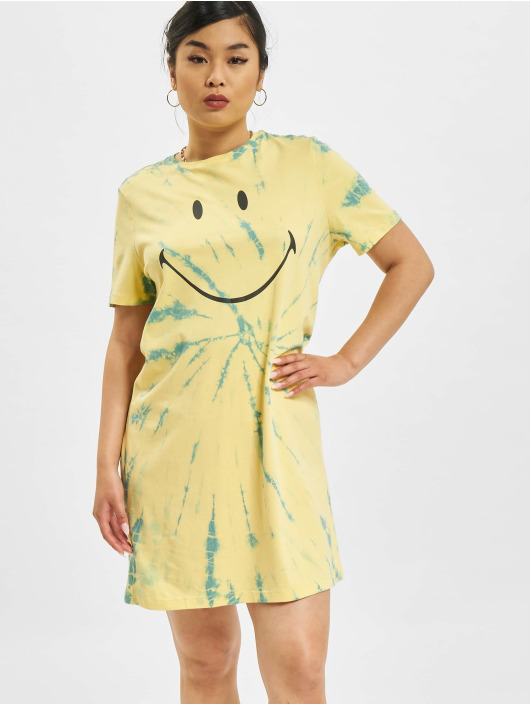 Only Vestido Life Tie Dye JRS amarillo