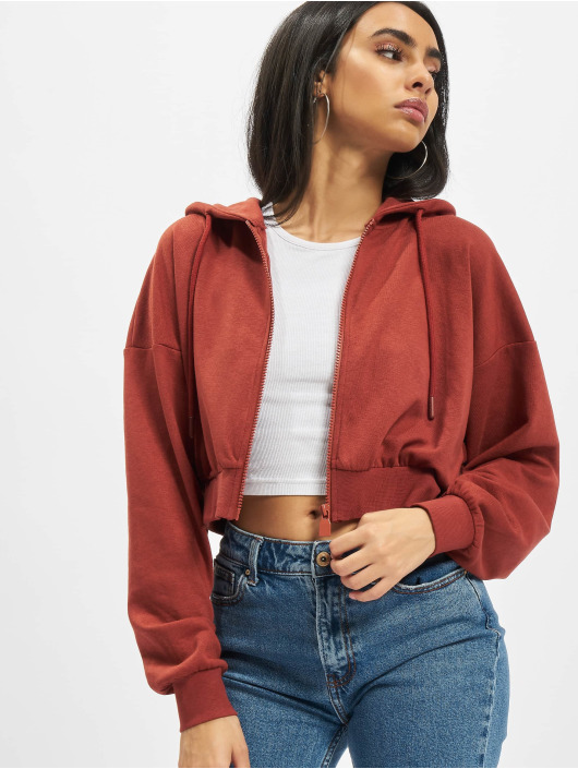 Only Zip Hoodie Onlbless red