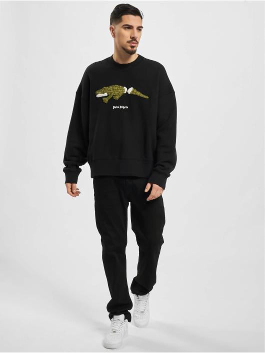 Palm Angels Пуловер Croco черный