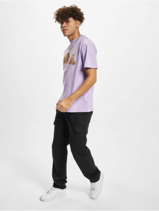 Palm Angels Camiseta Pa Bear Classic púrpura