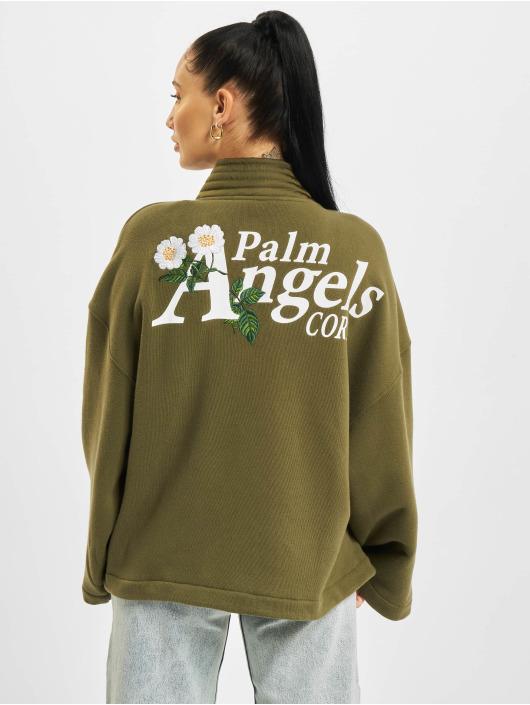 Palm Angels Cardigan Daisy Logo Kimono verde