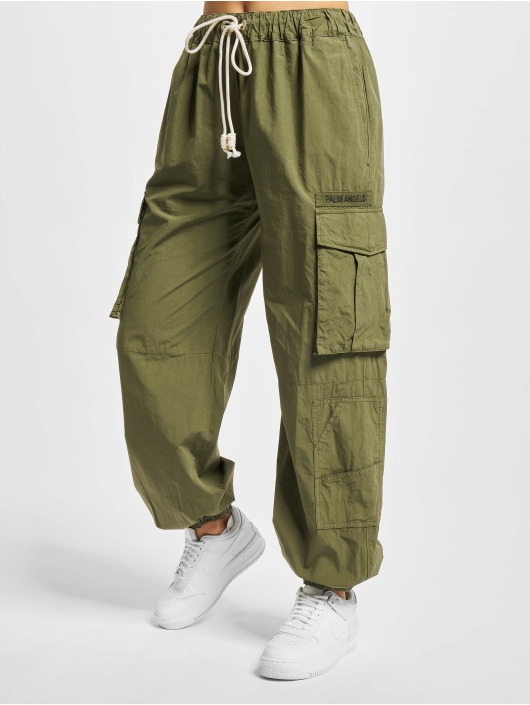 Palm Angels Cargo pants Ultralight zelený