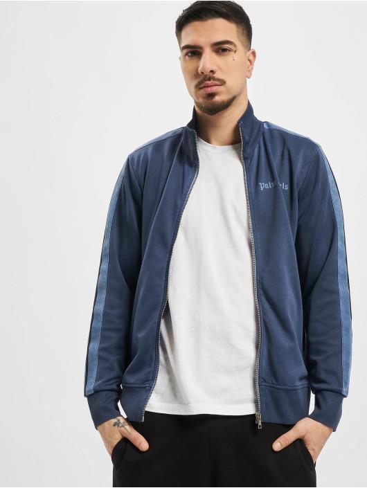 Palm Angels Giacca Mezza Stagione Garment Dyed blu