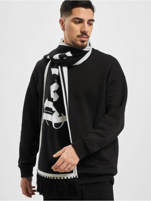 Palm Angels Halstørklæder/Tørklæder Logo Knitted sort