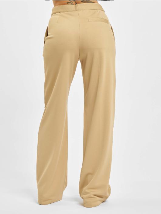 Palm Angels Látkové kalhoty Loose Track béžový