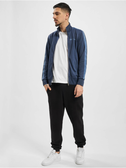 Palm Angels Lightweight Jacket Garment Dyed blue