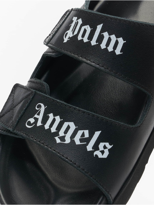 Palm Angels Sandalen Logo schwarz