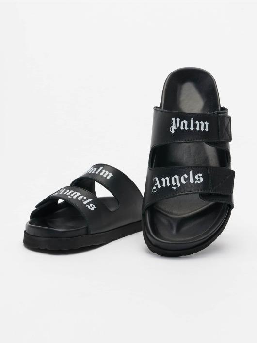 Palm Angels Slipper/Sandaal Logo zwart