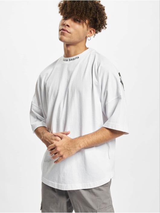 Palm Angels T-shirt Classic Logo Over bianco