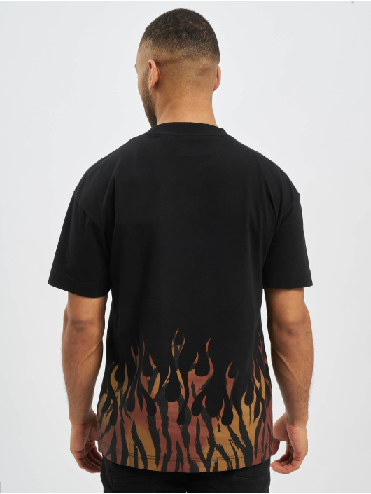 Palm Angels T-shirt Tiger Flames nero