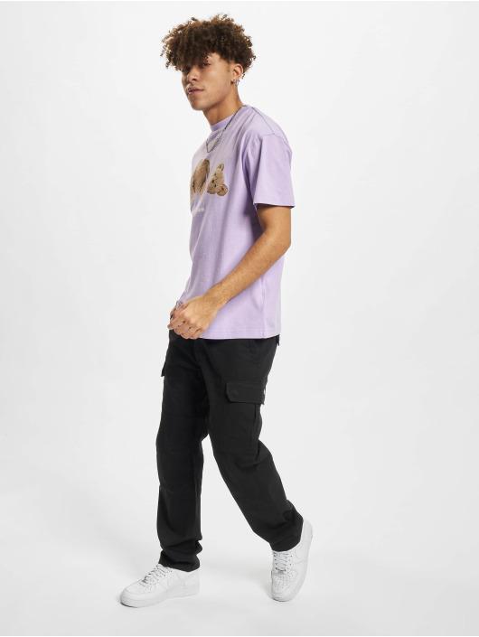 Palm Angels T-Shirt Pa Bear Classic purple