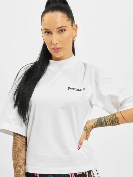 Palm Angels T-Shirty Classic Logo bialy