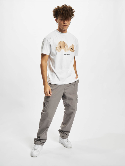 Palm Angels T-Shirty Pa Bear Classic bialy