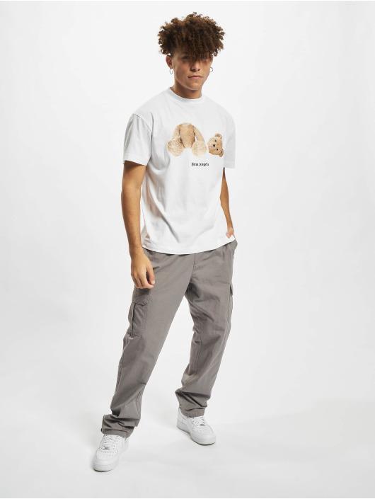 Palm Angels T-skjorter Pa Bear Classic hvit