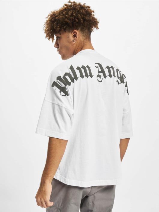 Palm Angels T-skjorter Classic Logo Over hvit
