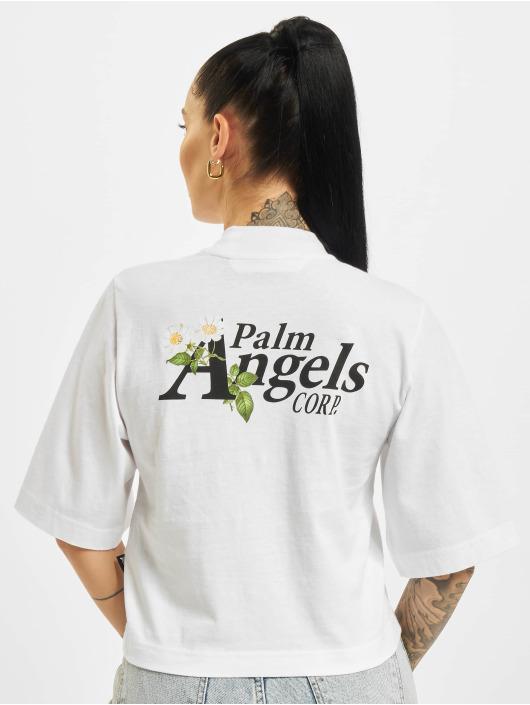 Palm Angels Trika Daisy Logo Cropped bílý