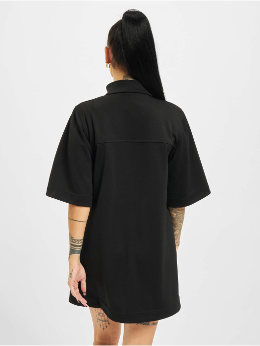 Palm Angels Vestido Zipped Track negro