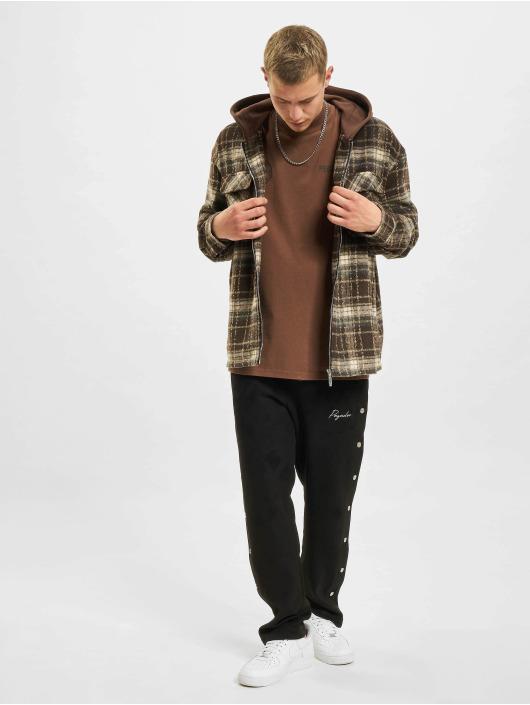 PEGADOR Демисезонная куртка Fontana Hooded Zip Hairy Flannel коричневый