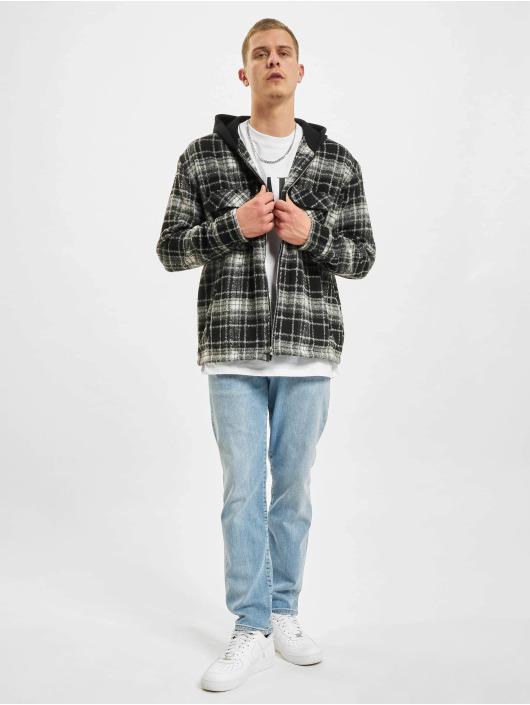 PEGADOR Демисезонная куртка Fontana Hooded Zip Hairy Flannel черный