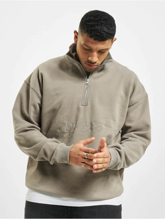 PEGADOR Пуловер Arizona Halfzip Oversized серый