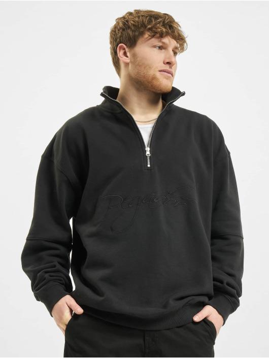 PEGADOR Пуловер Arizona Halfzip Oversized черный