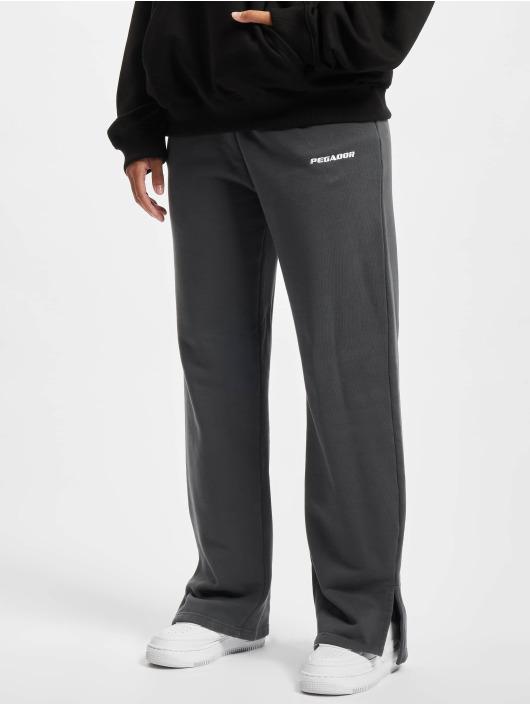 PEGADOR Спортивные брюки Evie Straight серый