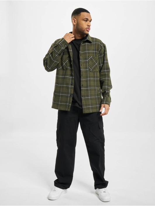 PEGADOR Camicia Flato Heavy Flannel verde