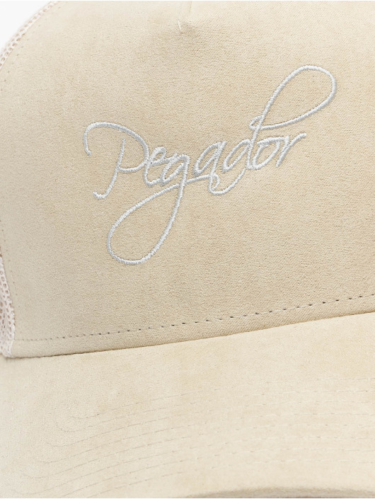 PEGADOR Casquette Trucker mesh Cursive Suede beige