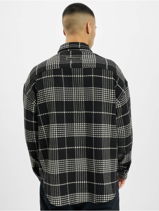 PEGADOR Chemise Sydney Round Heavy Flannel noir