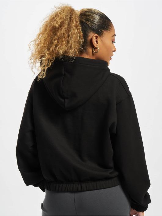 PEGADOR Felpa con cappuccio Nicki Oversized Cropped Half Zip nero