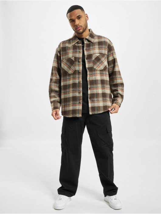 PEGADOR Hemd Delta Heavy Flannel braun