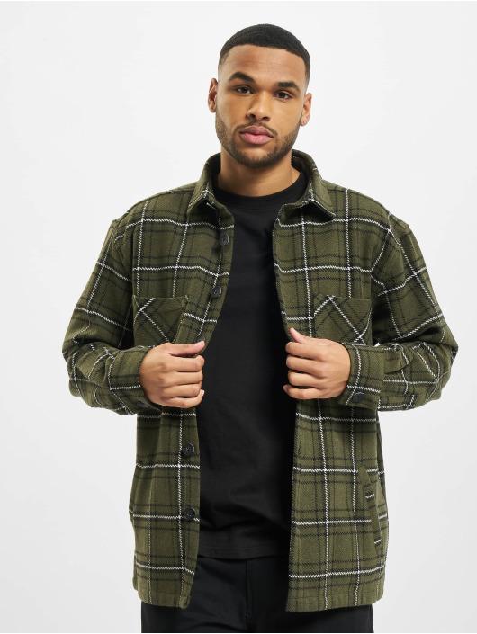 PEGADOR Hemd Flato Heavy Flannel grün
