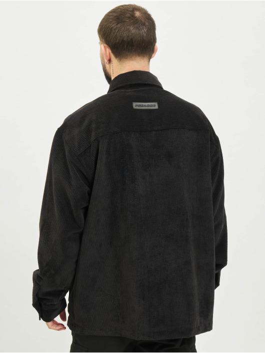 PEGADOR Hemd Corduroy Oversized schwarz