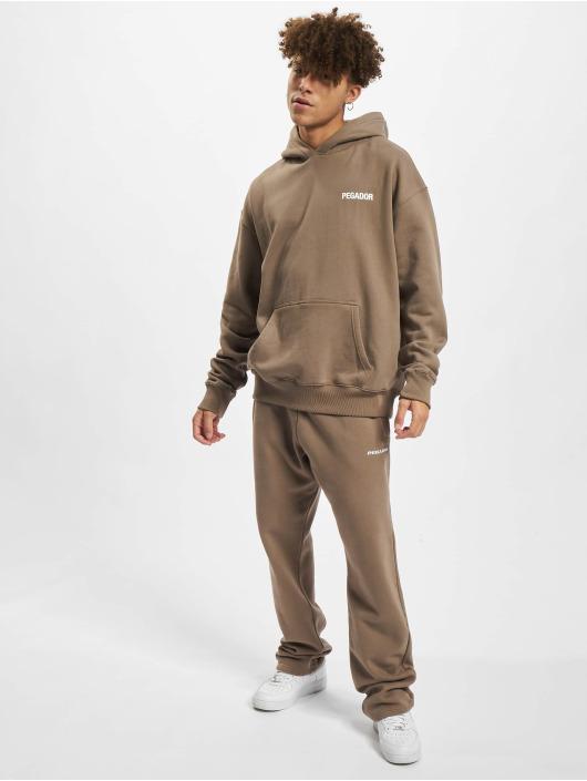 PEGADOR Hoodie Winners Oversized brown