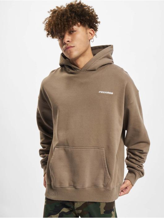PEGADOR Hoodie Logo Oversized brun
