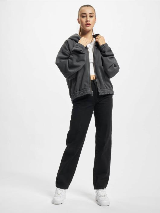 PEGADOR Hoodies con zip Seam Cropped grigio