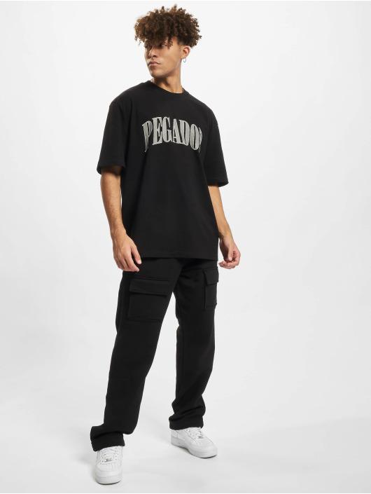 PEGADOR Jogging kalhoty Front Pocket čern