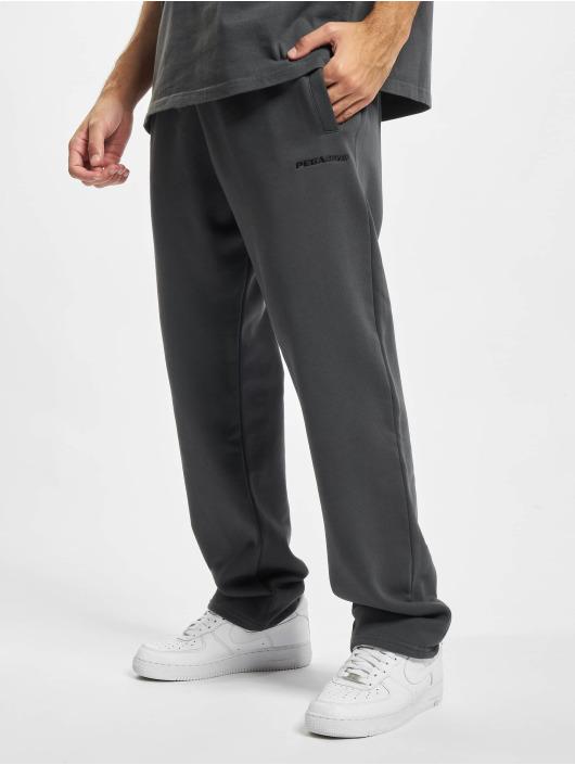 PEGADOR Jogging kalhoty Logo Wide šedá